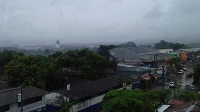 Lluvias sobre el territorio nacional con énfasis en la zona norte y cadena volcánica