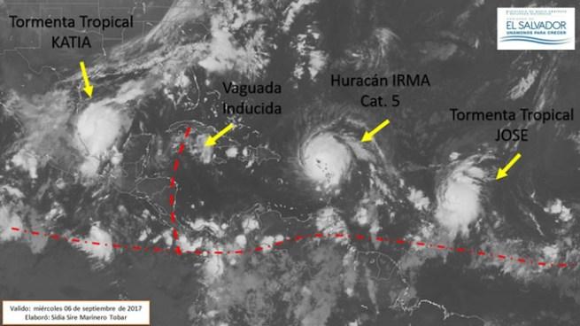 Acercamiento de Vaguada inducida favorecerá nubosidad, tormentas y lluvias para hoy