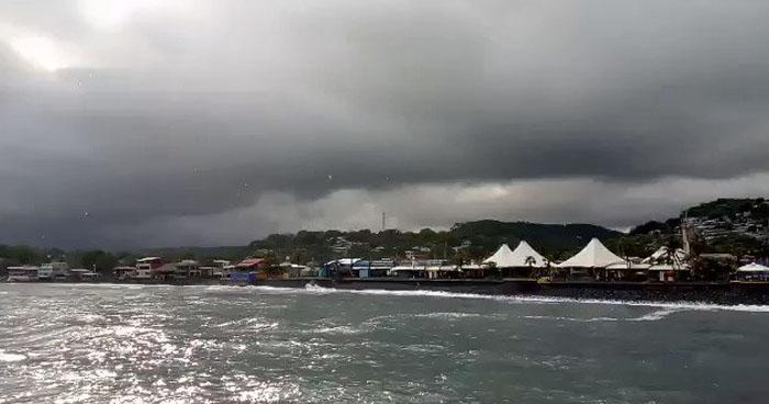 Probabilidad de lluvias en zonas costeras de la zona central y paracentral del país