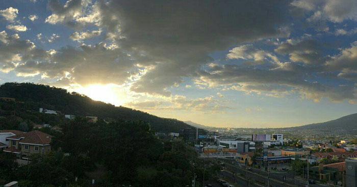 Cielo estará poco nublado con probabilidad de lluvias en zonas altas y montañosas del país