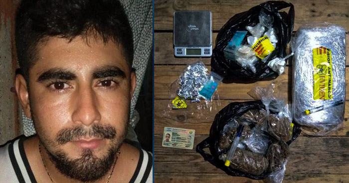 Colaborador de la MS capturado cuando distribuía drogas en Sonsonate