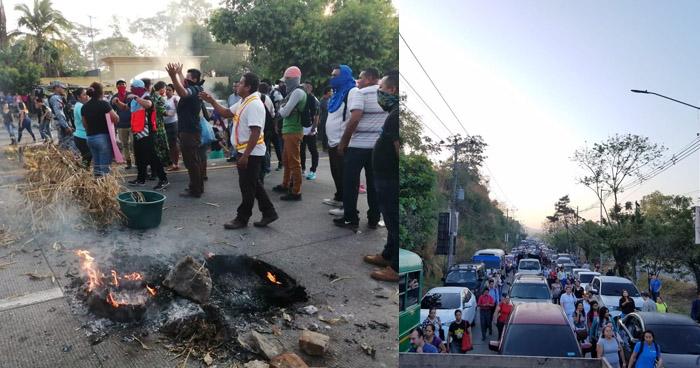 Bloquean carretera a Comalapa por falta de agua nuevamente