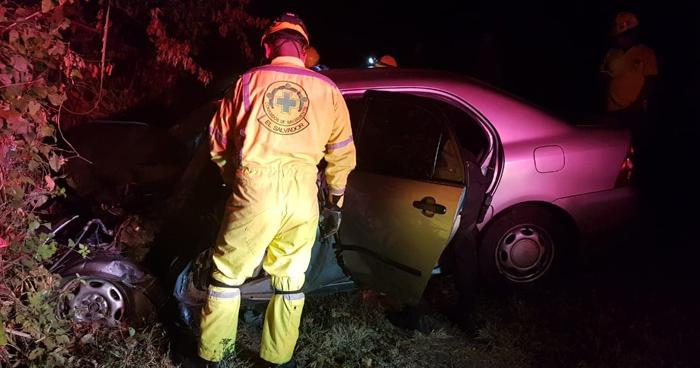 Un fallecido y 3 lesionados tras accidente de transito entre rastra y sedan en la carretera Panamericana