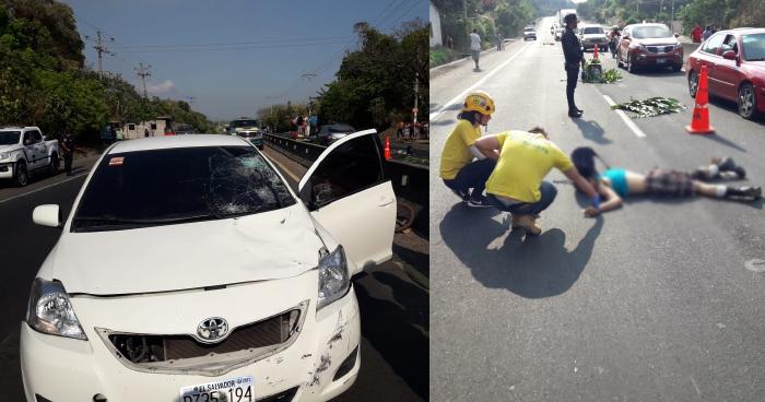 Un hombre murió tras ser atropellado en carretera a Quezaltepeque