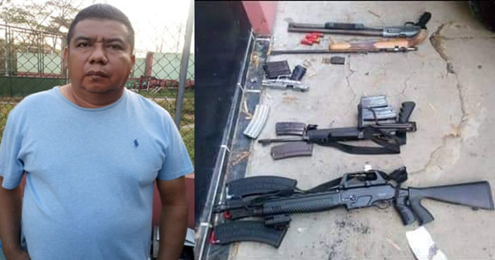 Capturan a traficante de armas de fuego en zona fronteriza con Honduras