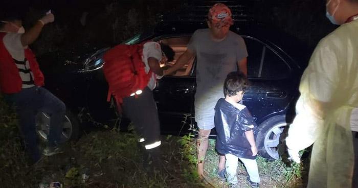 Conductor ebrio choca en carretera Troncal del Norte, viajaba con un niño de 5 años