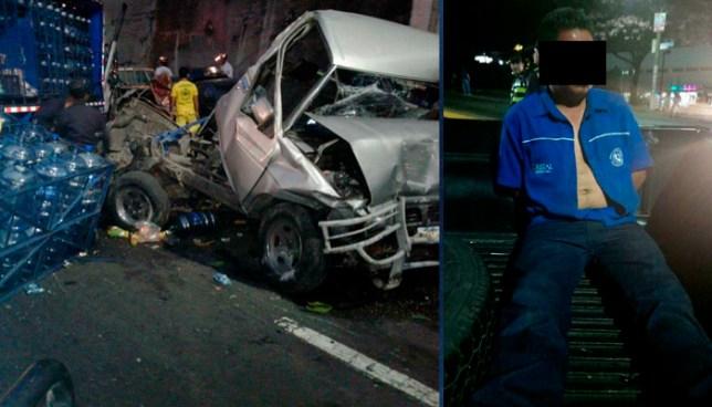 Conductor ebrio que atropelló y mató a tres personas registro más de 380° de alcohol en sangre