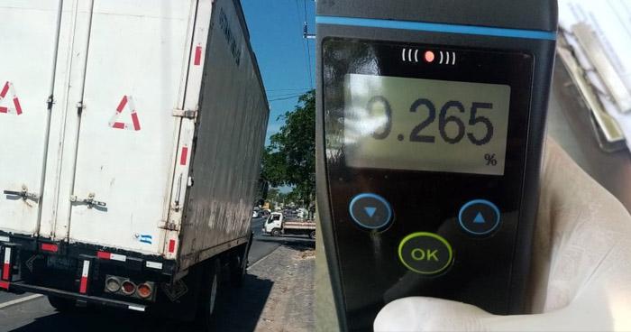 Detectan más de 200° de alcohol a conductor de camión en carretera Troncal del Norte