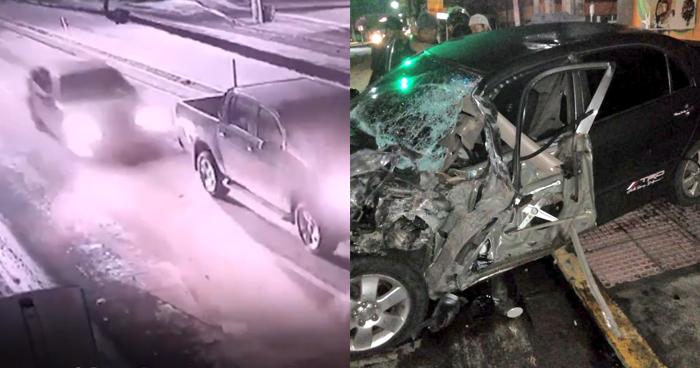 VIDEO   Captan momento en que conductor ebrio provoca choque en San Miguel
