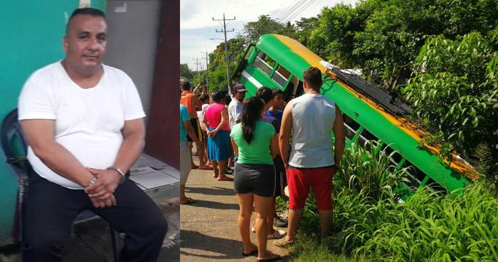 Conductor ebrio provocó que autobús R-182 se precipitara a un barranco en Zacatecoluca