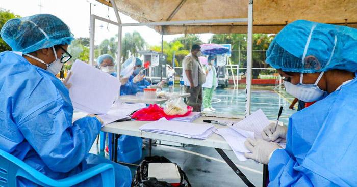 Instalan cabinas diagnóstico de COVID-19 en El Triunfo, Usulután