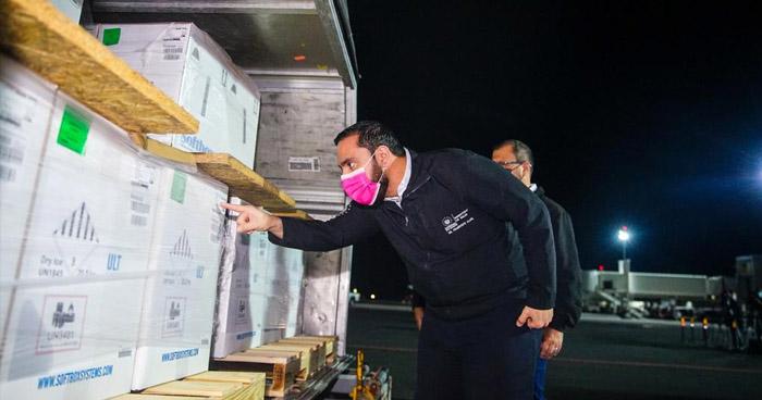 Nuevo cargamento de vacunas contra el COVID-19 llegó esta madrugada a El Salvador