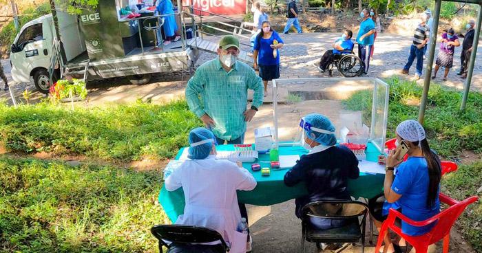 Instalan cabinas diagnóstico de COVID-19 en Teotepeque, La Libertad