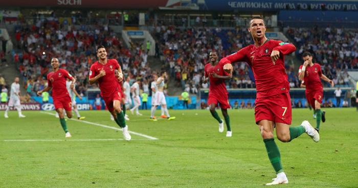 ¡Partidazo! España y portugal empataron 3-3, Cristiano marco Hat-Trick