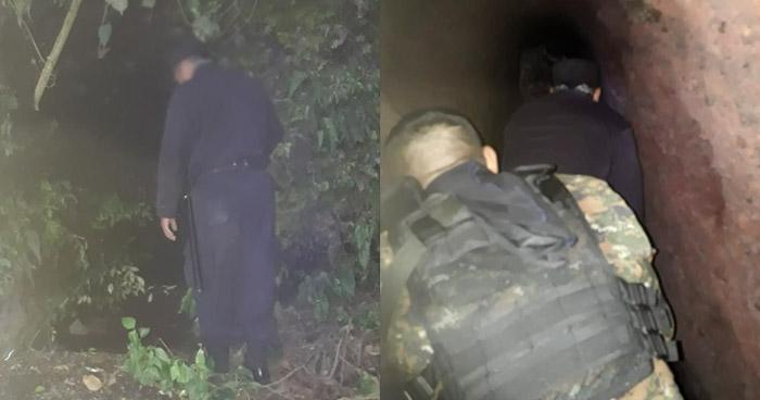 Descubren cueva presuntamente utilizada por delincuentes en Sonsonate