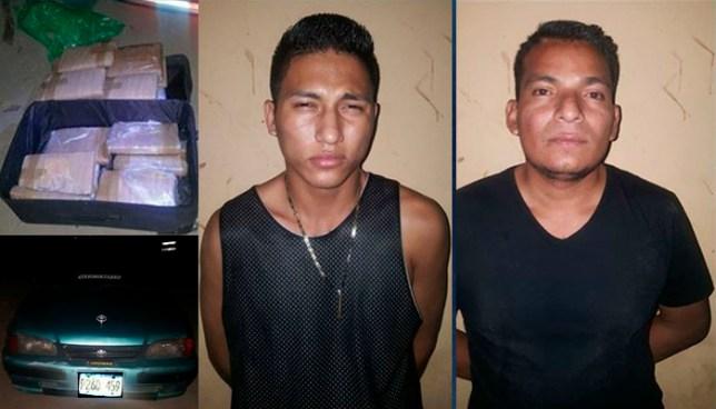 Dos sujetos son capturados con más de medio centenar de libras de marihuana en Metalío