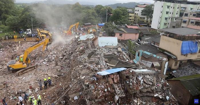 Edificio colapsa en India y deja al menos 13 personas fallecidas