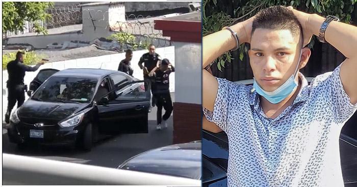VIDEO | Interceptan en un autoservicio a sujetos cometían robos en Santa Ana