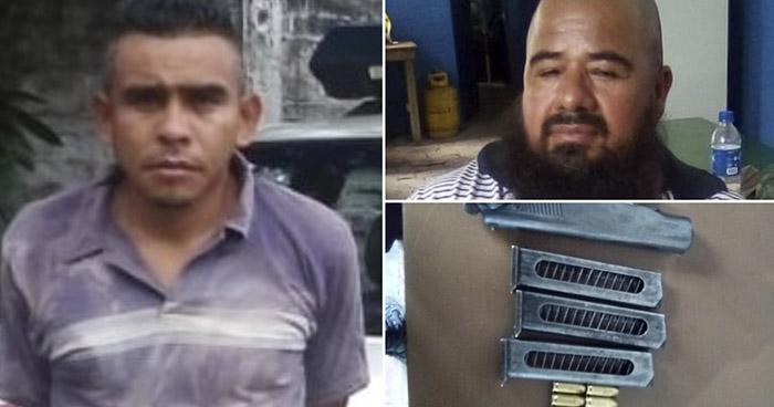 Capturados por extorsión y portación ilegal de arma en Santa Ana