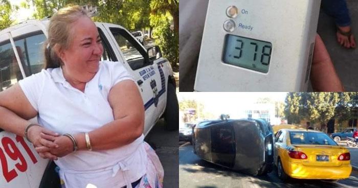 Vendedora choca contra patrulla de la PNC por conducir en estado de ebriedad