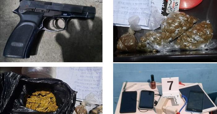 Detienen a mujer con droga, un arma y munición en Tonacatepeque