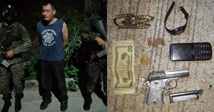 Interceptan a hombre armado y sin documentos en San Miguel