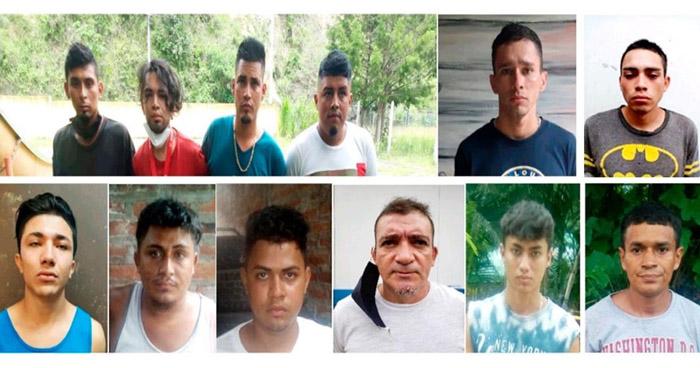 Capturan a 18 pandilleros acusados de extorsión y robo