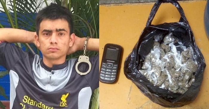 Pandillero capturado cuando distribuía marihuana