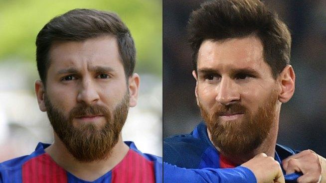 Detienen a doble de Messi por desorden público