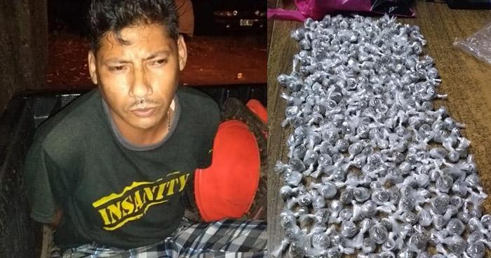 Capturan distribuidor de drogas con 294 porciones en Sonsonate