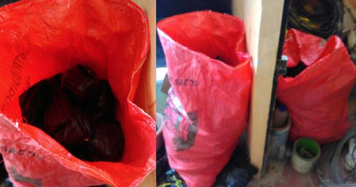 Encuentran sacos con droga dentro de la casa comunal de Ilopango