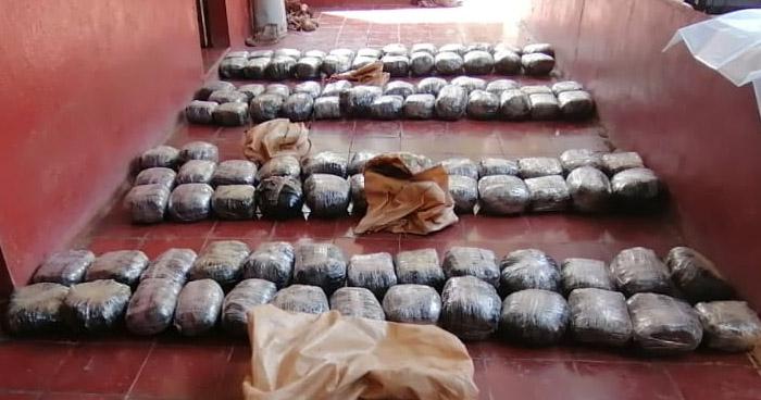 Encuentran 230 libras de Marihuana en vivienda de Candelaria de La Frontera