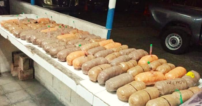 Transportaba 43 libras de droga en Santa Tecla, La Libertad