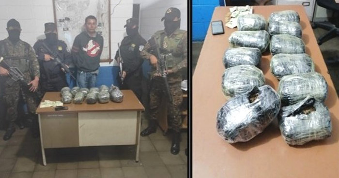 Transportaba 11 paquetes de marihuana en Soyapango