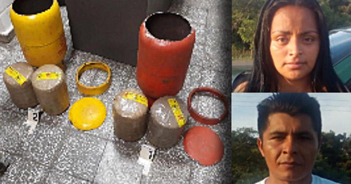 Condenan a pareja que transportaba droga oculta en cilindros de gas
