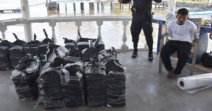 A prisión guatemalteco capturado con 500 kilos de Coca en Bahía de Jiquilisco