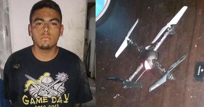 Pandillero de la MS vigilaba a policías con un Drone