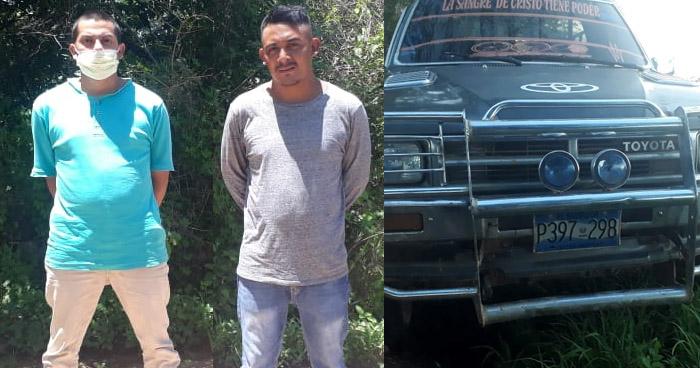 Dos capturados por extorsión en Yamabal, Morazán