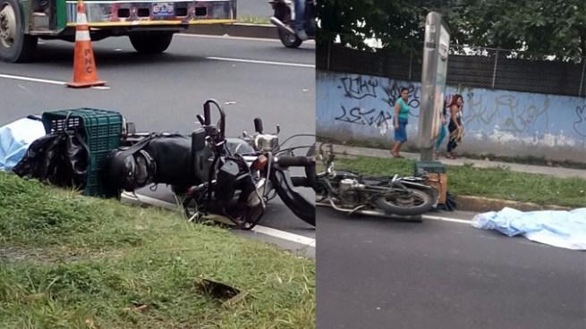 Motociclista pierde la vida tras accidentarse sobre el Bulevar del Ejército en Soyapango