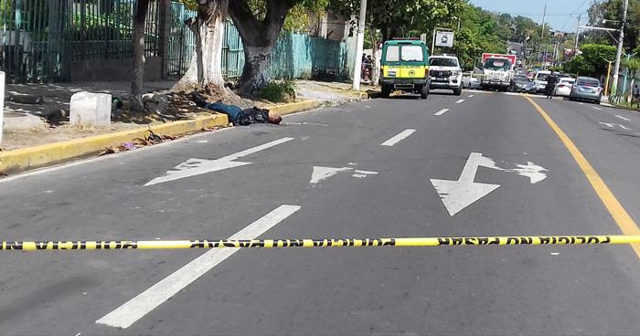 Motociclista fallecido tras ataque armado en colonia Zacamil