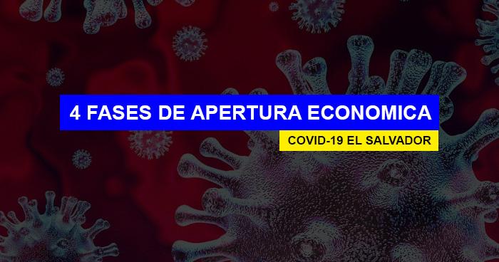 El Salvador abrirá la economía en 4 fases