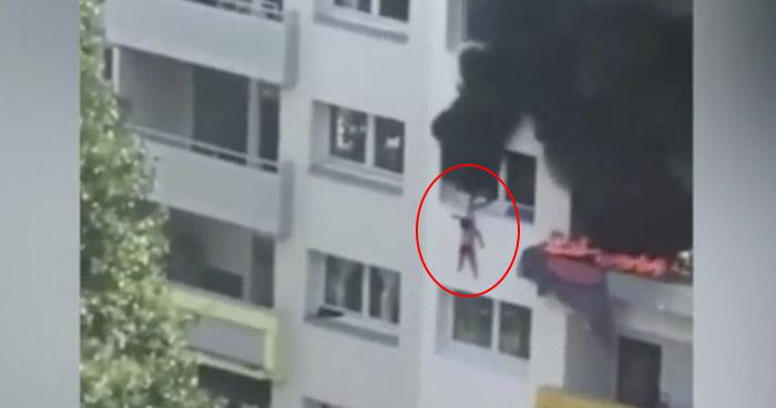 Dos niños saltan desde 12 metros para salvarse de un incendio en Francia