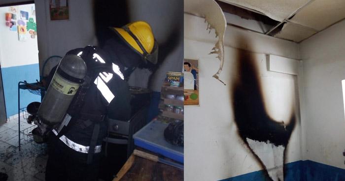 Incendio en guardería de San Luis La Herradura, La Paz