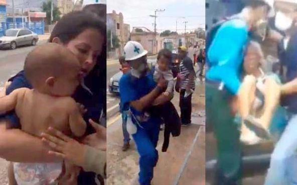 Guardería es afectada por bombas lacrimógenas