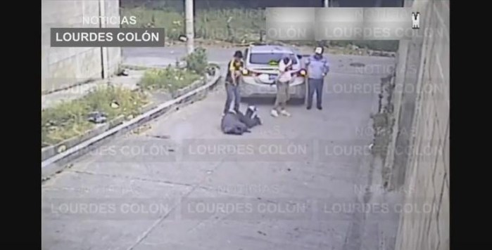 VIDEO: Asesinato de un hombre en Colonia Escalón