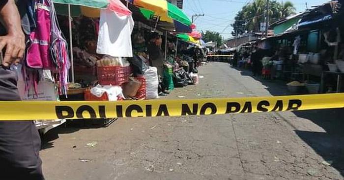 Pandillero asesinado en un puesto del mercado de Quezaltepeque
