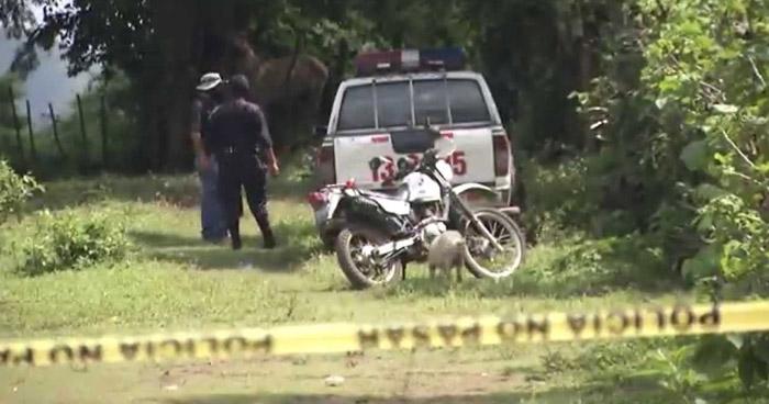 Delincuentes asesinan a balazos a un hombre, en un cantón de San Vicente
