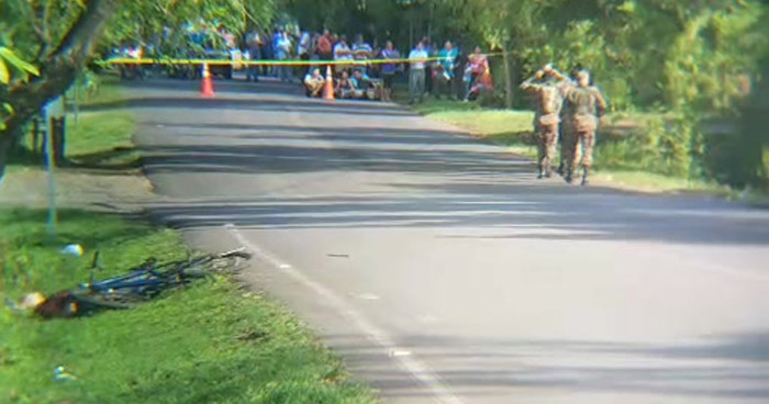 Matan a un joven cuando a bordo de una bicicleta, se dirigía a su trabajo en Usulután