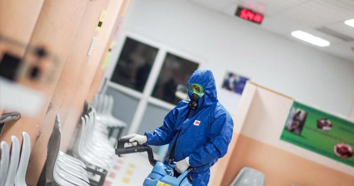 Realizan jornada de desinfección se realizó en el Hospital de la Mujer