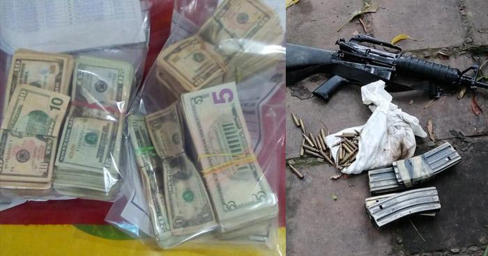 Incautan armas, munición y $21.130 en efectivo en diferentes puntos del país